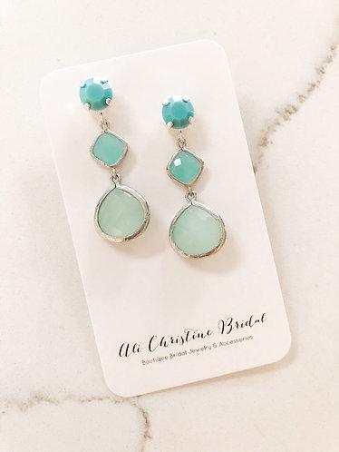 OMBRE CARIBBEAN BLUES Earrings