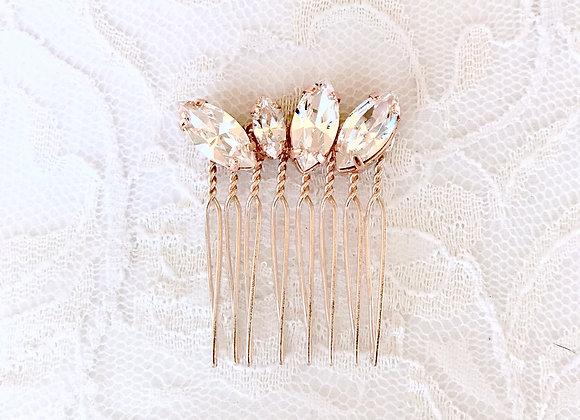 MIA: Rose Gold Petite Crystal Comb
