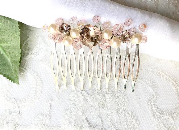 ROSALIE: Petite Blush Bridal Comb