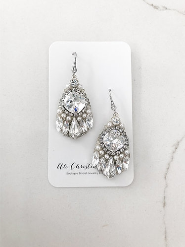 VANESSA: Crystal Chandelier Bridal Earrings