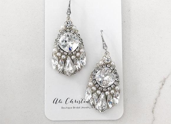 VANESSA: Crystal Chandelier Bridal Earrings