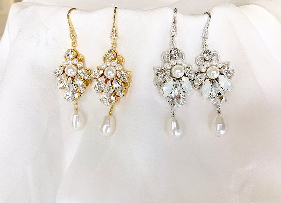 HEIRESS: Pearl Bridal Earrings