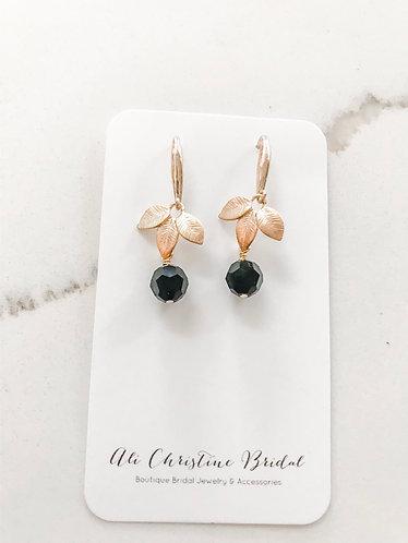 BLACK & GOLD LEAF Earrings