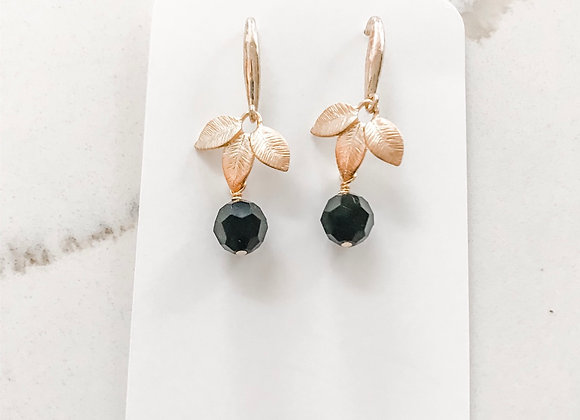 BLACK & GOLD LEAF Earrings