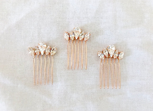 HAYLEY: 1 Inch Petite Rose Gold Comb