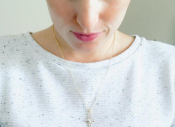 SPIRIT: Rhinestone Cross Necklace