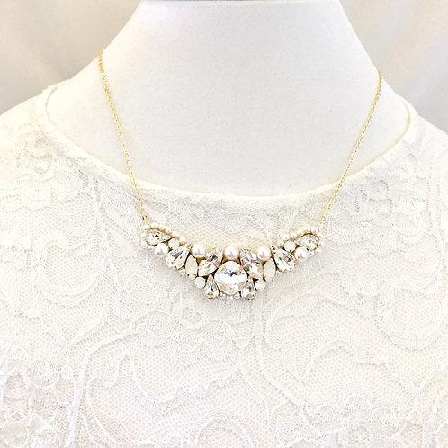 VICTORIA: Elegant Swarovski Bridal Necklace