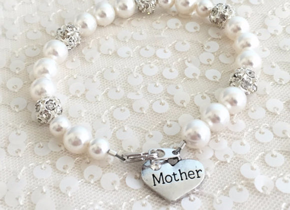 Mother Swarovski Pearl Fireball Bracelet
