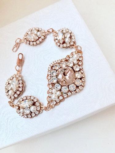 CALLIOPE: Vintage Rose Bracelet