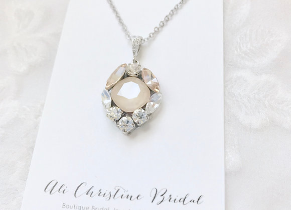 ANNE Necklace: Champagne Crystal Necklace