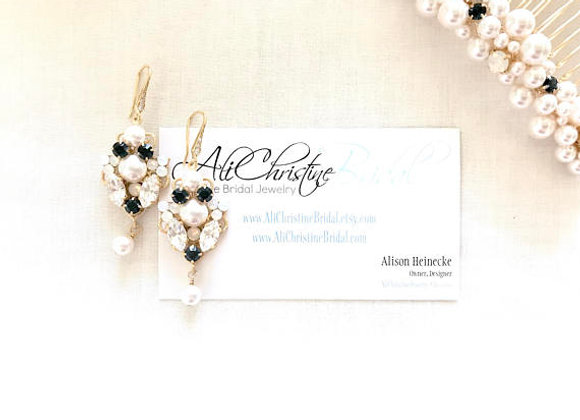 ANDREA: Customizable Color Special Occasion Earrings