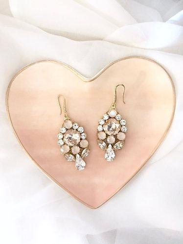 EMILEE: Blush Swarovski Earrings