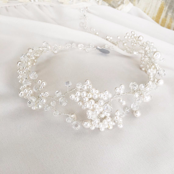 Pearl Hair Accessory, Baby's Breath Inspired Bridal Hair Piece