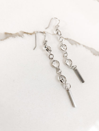 CHANNEL LINK Drop earrings