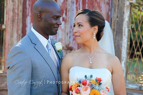 Y Necklace CZ Bridal Jewelry