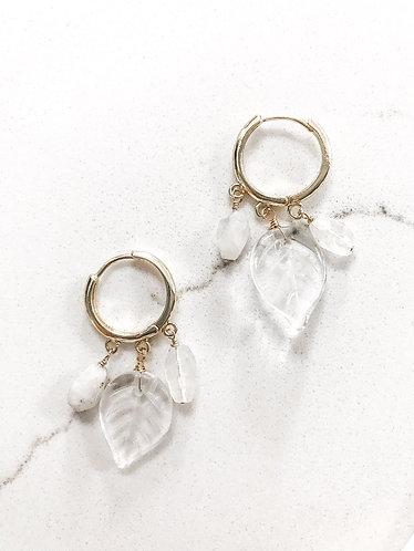 MOONSTONE AUTUMN Earrings in Gold Vermeil