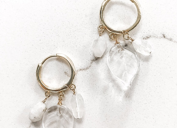 MOONSTONE AUTUMN Earrings in Gold Vermeil