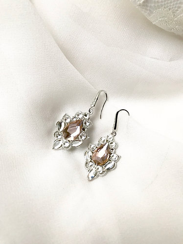 VALENTINA: Blush Bridal Earrings