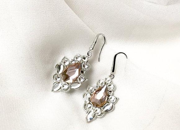 VALENTINA: Blush Bridal Earrings