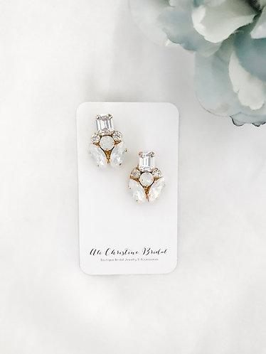 LEYLA: Post Style Modern Rhinestone Earrings