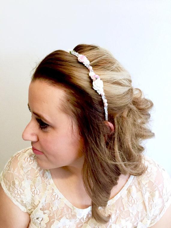 Blush Bridal flower crown
