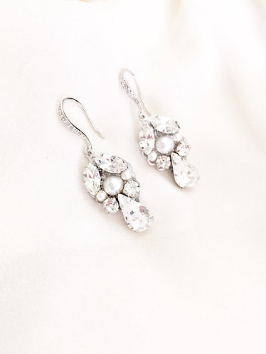 ARIES: Swarovski Art Deco Bridal Earrings