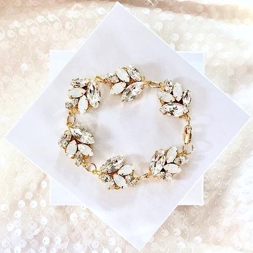 IVY: Leaf Rhinestone Bracelet