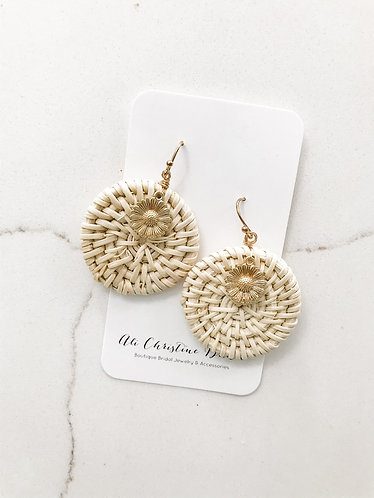 RATTAN SUNFLOWER Earrings