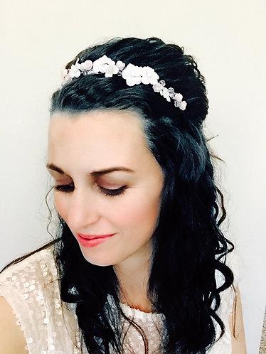 LILA: Pink Blush Floral Bridal Headband