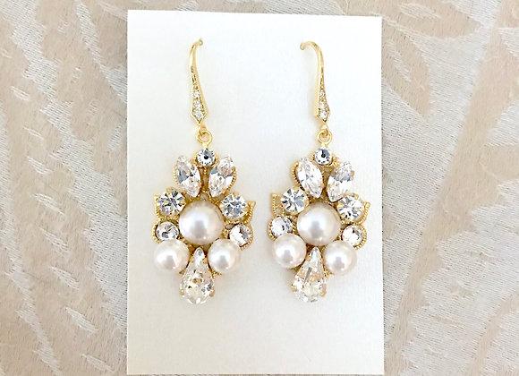 SYRAH: Pearl Bridal Earrings