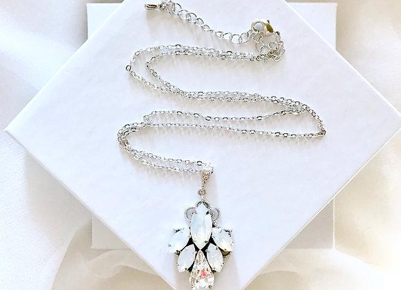 TERESA: Opal Bridal Pendant Necklace