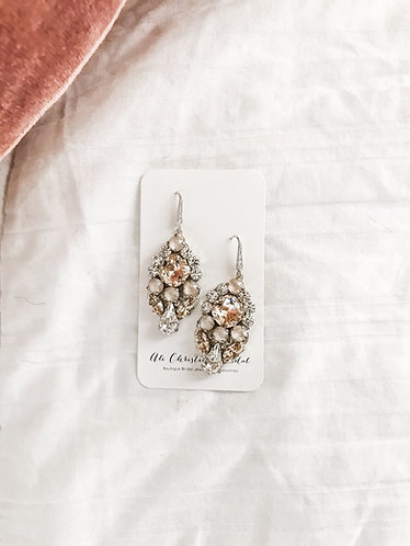 EMILEE: Blush Swarovski Earrings