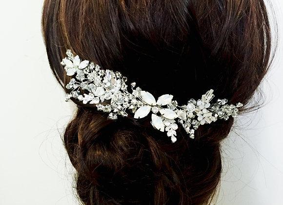 ICELYNN: White Opal Decorative Bridal Comb
