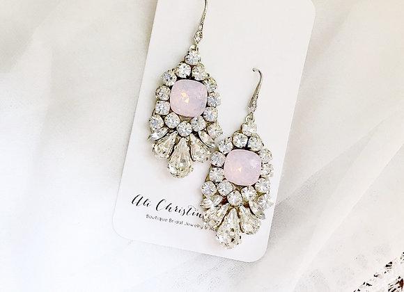 LEAH Earrings: Rosewater Opal Bridal Earrings