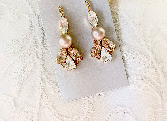 IDA: Champagne Almond Earrings