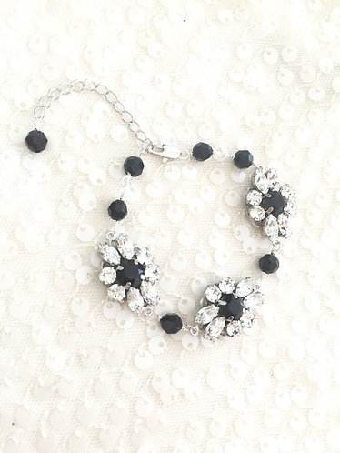 CYNTHIA BRACELET: Swarovski Fanfare Jeweled Bracelet