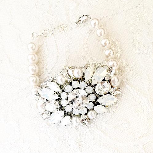 ARIELLA: Statement Bridal Cuff Bracelet