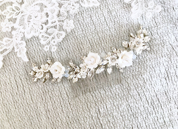FLOWERS: Opal Floral Hair Adornment