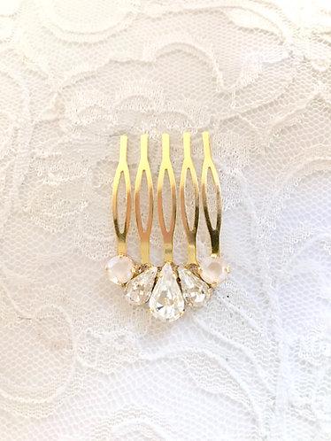 BETSY: Ivory Cream Petite Bridal Comb