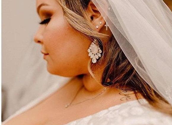 ARIA: Ivory Nude & White Opal Earrings