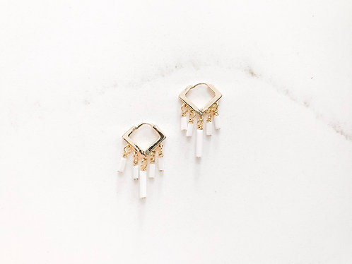 LULU mini beaded fringe earrings