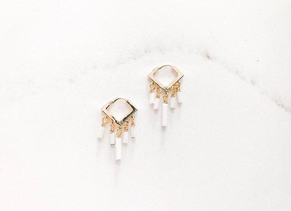 LULU mini beaded fringe earrings