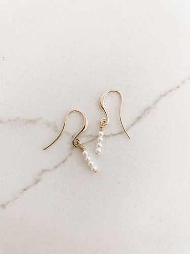 DAINTY PEARL STACK Earrings