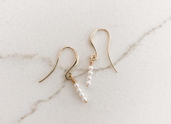 DAINTY PEARL STACK Earrings
