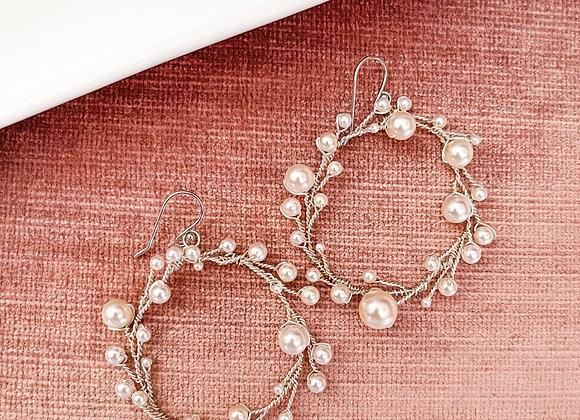 BUBBLY: Pearl Hoop Earrings