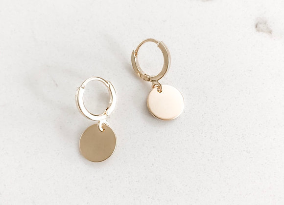 GOLD MIRROR Disc Earrings