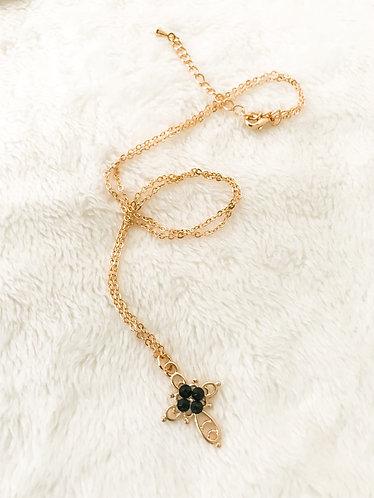 CROSS Necklace featuring Jet Black Swarovski