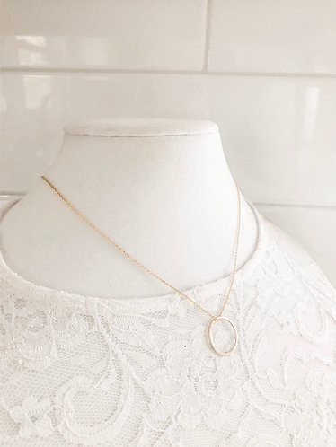 SIMPLE GOLD HOOP Necklace