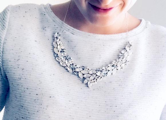 VIENNA NECKLACE: Statement Rhinestone Collar Necklace