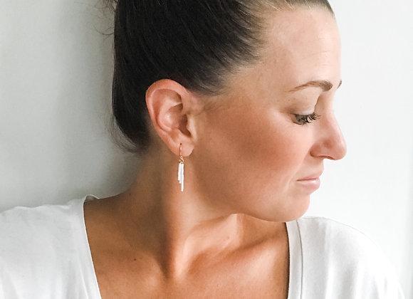 BEADED FRINGE Earrings (Rose Gold, Silver, or Gold)